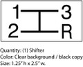 Simplicity landlord 1964 shift decal