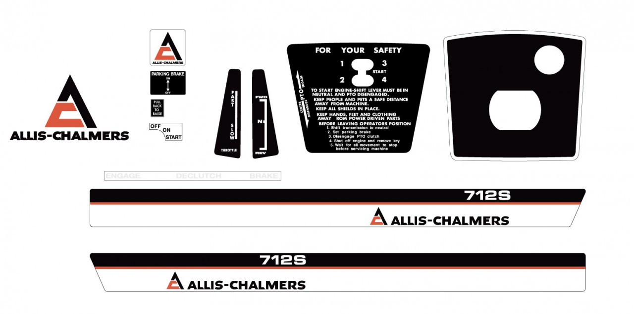 Allis Chalmers Decal Kits : Allis chalmers s early kit vintage reproductions