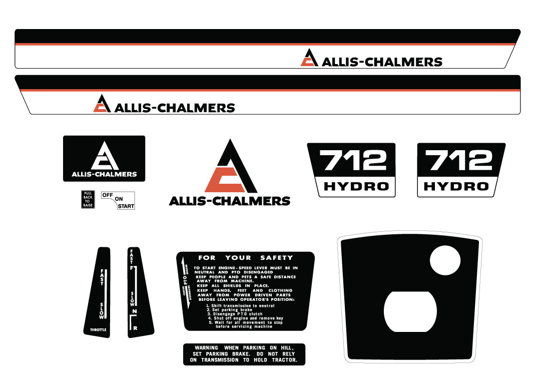 Allis Chalmers Decal Kits : Allis chalmers h late kit vintage reproductions