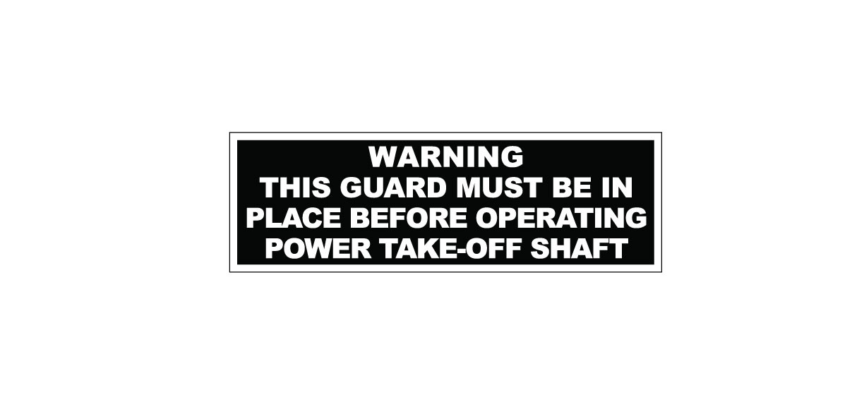 Tractor Pto Warning Decals : Simplicity pto warning decal vintage reproductions