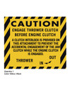Ariens 1965-1974 10000 & 910000 Series Caution Thrower Decal