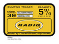 Radio Mfg. Dumping Trailer Decal