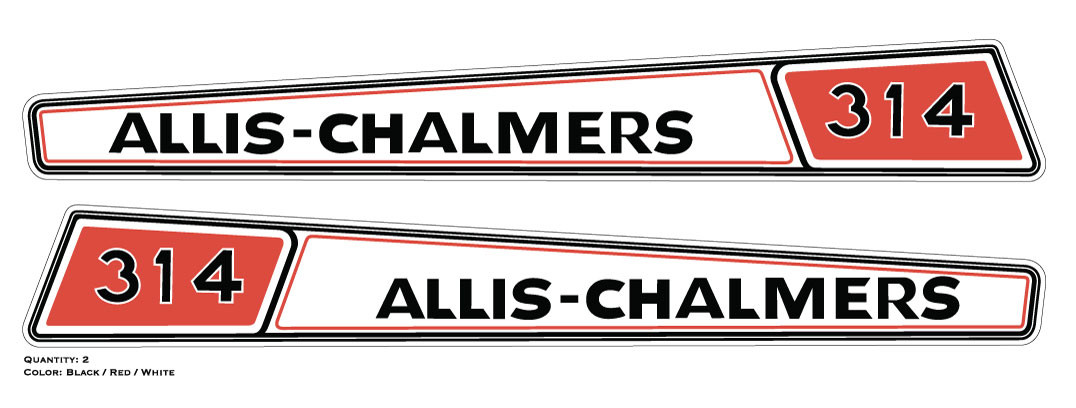 Allis Chalmers Decal Kits : Allis chalmers hood decal vintage reproductions