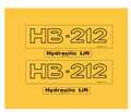 HB-212 Allis Chalmers lift decals
