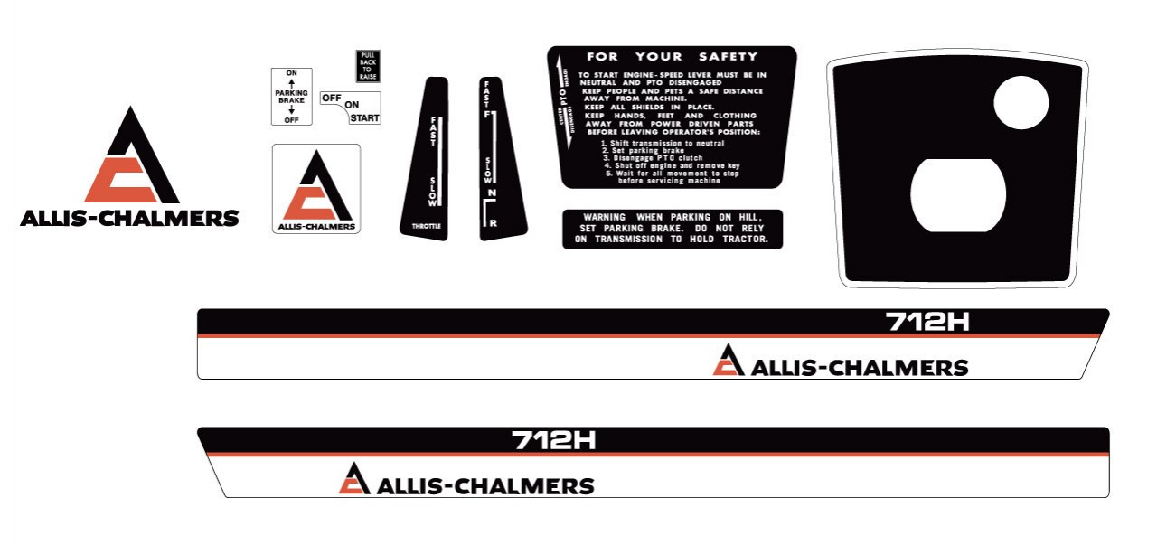 Allis Chalmers Decal Kits : Allis chalmers h early kit vintage reproductions