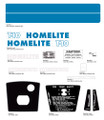 Homelite T-10 decal kit