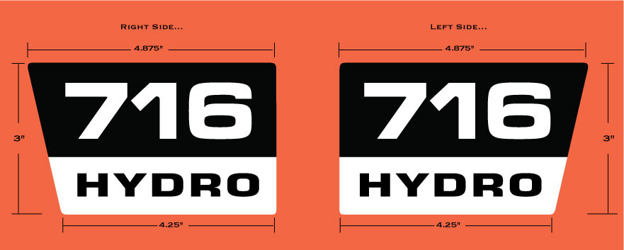 Allis Chalmers Decal Kits : Allis chalmers hydro hood decal vintage reproductions