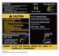 """Simplicity Sunstar Transmission Cover """"No 2 Speed or Differential Lock"""" Decal"""