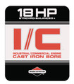 Briggs and Stratton 18HP engine decal