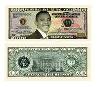 Barack Obama 2009 Inaugural Novelty Bill