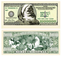 Classic Santa One Million Dollar Bill