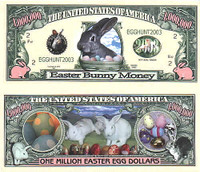 Easter Egg One Million Dollar Bill