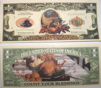 Happy Thanksgiving Million Dollar Bill