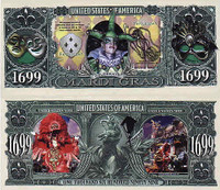 Mardi Gras One Million Dollar Bill