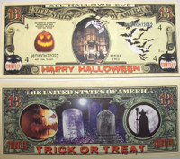 Thirteen Dollar &quot;13&quot; Happy Halloween Bill