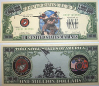 U.S Marines One Million Dollar Bill