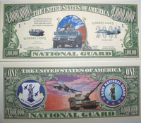 U.S National Guard One Million Dollar Bill