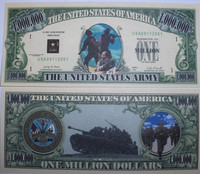 U.S. Army One Million Dollar Bill