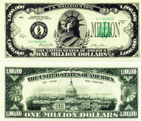 Classic One Million Dollar Bill
