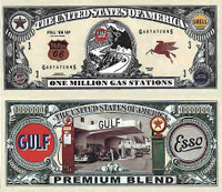 Gas Station One Million Dollar Bill