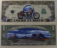 Biker One Million Dollar Bill