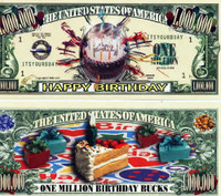 Happy Birthday One Million Dollar Bill