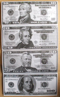Jumbo Fake Play Money-144 Pieces