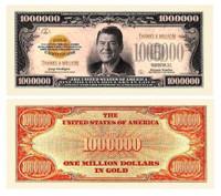 THANKS A MILLION (REAGAN) DOLLAR BILL