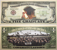 Graduation One Million Dollar Bill