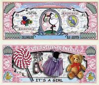 It's a Girl! One Million Dollar Bill