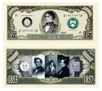 FRANKLIN PIERCE MILLION DOLLAR BILL