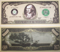 James Madison One Million Dollar Bill
