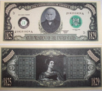 President John Quincy Adams One Million Dollar Bill