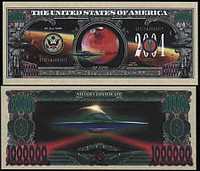 Mars One Million Dollar Bill