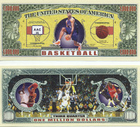Basketball One Million Dollar Bill