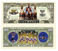 CHEERLEADING MILLION DOLLAR BILL