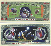 Football One Million Dollar Bill