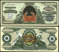 Cancer Zodiac One Million Dollar Bill