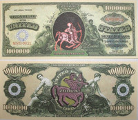Sagittarius Zodiac One Million Dollar Bill