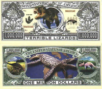 "Dinosaur ""Terrible Lizards"" One Million Dollar Bill"