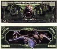 Halloween Bat One Million Dollar Bill