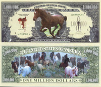 Horse One Million Dollar Bill
