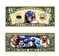 K-9 Dog Dollar Bill