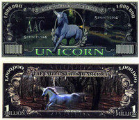 Unicorn One Million Dollar Bill