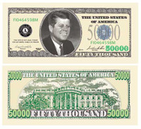 $50,000.00 JFK CASINO PARTY MONEY