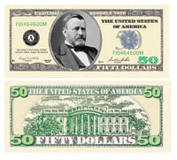 Fifty Dollar Bill Casino and Poker Night Money
