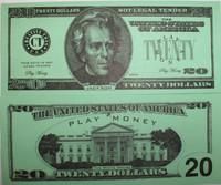 Twenty Dollar Bill Casino and Poker Night Money-PM