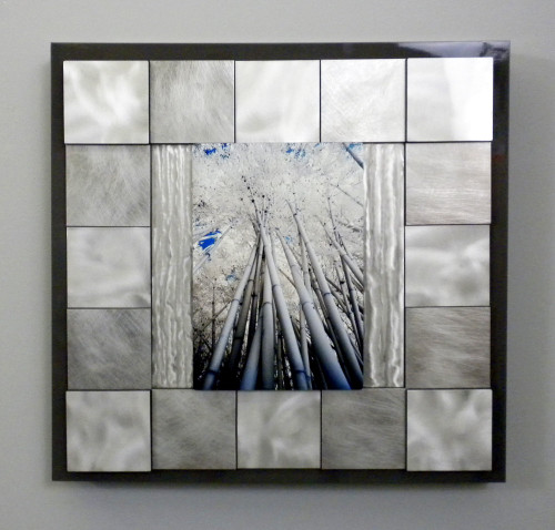"""Bamboo Canopy on Metal"" - SOLD"