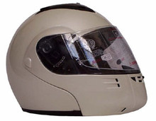 DOT Modular Full Face Pearl White Motorcycle Helmet