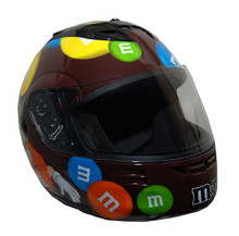 DOT Modular Full Face Brown M&amp;M Motorcycle Helmet